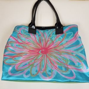 Kate Laundry tote bag blue flower design